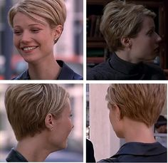 Gwyneth Paltrow in Sliding Doors. I love this cut (except the point at the nape, I prefer straight across)
