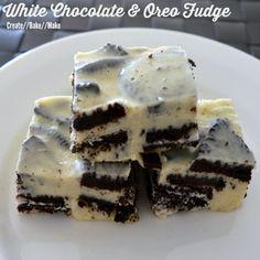 White Chocolate and Oreo Fudge Recipe Desserts with white chocolate, condensed milk, biscuits