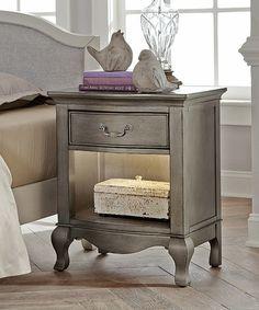 Another great find on #zulily! Antique Silver Kensington Shelf-Light Nightstand #zulilyfinds