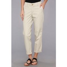 Dockers Misses Beach Crop Women's Casual Pants, Bone