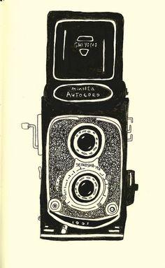 Minolta camera drawing.