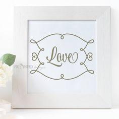 Love SVG cut file by pixelphoenixdesigns on Etsy