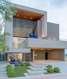 New Exterior Building Facade Architecture Ideas Design Exterior, House Paint Exterior, Exterior House Colors, Facade Design, Modern Exterior, Building Exterior, Building Facade, Modern Architecture House, Facade Architecture