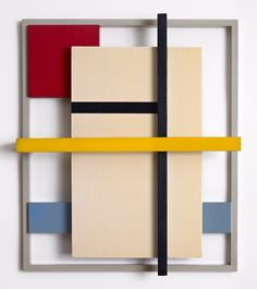 Title: Construction Artist: Burgoyne Diller (1906-1965, American) Year: 1938 Materials/Techniques: Painted wood