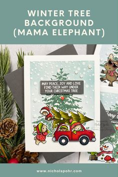 It's time for another Simon Says Stamp STAMPtember 2021 Limited Edition Exclusive, I Like You by Riley & Company! Today I am sharing a trio of cards showing how to take stamps from multiple companies and use them on the same basic winter scene background! Christmas Cards, Christmas Tree, Mama Elephant, Winter Trees, Simon Says Stamp, Stamps, Scene, Joy, Projects