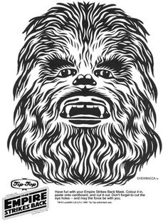 Star Wars Printable Masks - Chewbacca