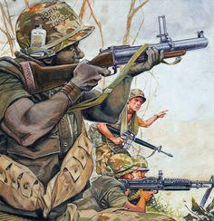 US troops in action, Vietnam War