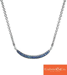 This stunning sapphire necklace is a must have for a holiday gift! This lovely 925 Silver and Sapphire Necklace by Gabriel & Co. is absolutely amazing. Discover your favorite jewelry and accessories with Gabriel & Co. Blue Sapphire Necklace, Ruby Necklace, Sapphire Jewelry, Sapphire Earrings, Sapphire Gemstone, Bar Necklace, Ruby Pendant, Sapphire Pendant, Fashion Necklace