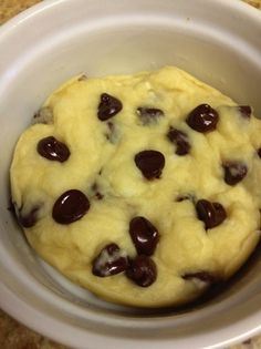 Microwave Cookie (single serve) - HungryLittleGirl