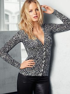 The Sexy Cardigan in Leopard Print by VS
