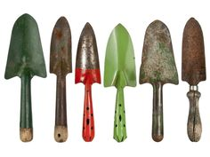 Set of Six Vintage Garden Trowels and Shovels - Relique  www.relique.com