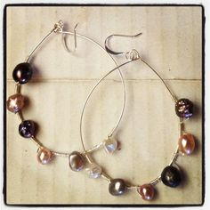 Pearl and silver wrapped earrings Jewelry Design, Jewelry Making, Pearl, Jewels, Earrings, Silver, Inspiration, Ear Rings, Biblical Inspiration