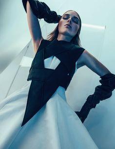 Vogue Russia Editorial April 2015 - Jenna Castilloux, Lina Berg, Stasha Yatchuk by Sebastian Kim