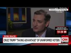 "Candidate Ted Cruz Calls Trump Supporters ""Low Information"" and ""Not Engaged""…
