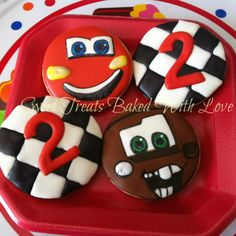 """Cars"" cookies  Sweet Treats Baked With Love"