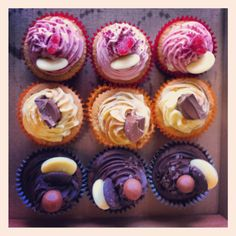 Cupcakes from the ladies who bake in Huddersfield.