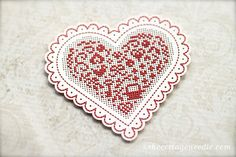 Valentine's Day Cross Stitch Sewing Cards at thecottageneedle.com