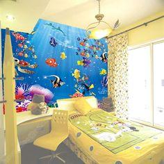 Finding Nemo bedroom-children's room murals