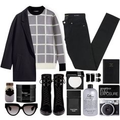 One last time by mariimontero on Polyvore featuring J.W. Anderson, H&M, Yves Saint Laurent, Sergio Rossi, Prada, MAKE UP FOR EVER, Smashbox, Tom Ford, philosophy and T3