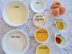 Easy Crustless Lemon Tart - Recipe Winners Easy Lemon Tart Recipe, Lemon Recipes Easy, Lemon Dessert Recipes, Delicious Cake Recipes, Tart Recipes, Sweets Recipes, Apple Desserts, Appetizer Recipes, Yummy Treats