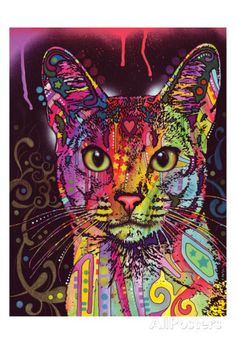 Hot Price Frameless Abstract Colorful Cat Animals DIY Painting By Numbers Hand Painted Oil Painting For Wall Art Picture Home Decoration .more information please click the link Psychedelic Art, Oil Painting On Canvas, Diy Painting, Canvas Wall Art, Canvas Frame, Cartoon Painting, Diy Canvas, Painting Portraits, China Painting