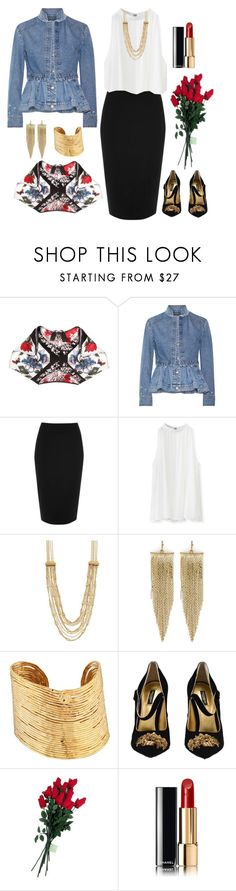 """""""Untitled #1616"""" by beng-gallo on Polyvore featuring Alexander McQueen, River Island, Chicwish, Napier, Kenneth Jay Lane, Gas Bijoux, Dolce&Gabbana, Hanky Panky and Chanel"""