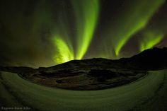 """Volcano Spitting Northern Lights?"" by Eugenio-Fiore Alba (TWAN)"