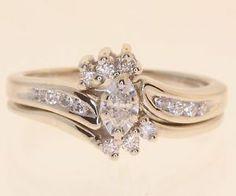 ... 28ct SI1 Marquise Diamond Engagement Ring Wedding Band 4 7g Set | eBay