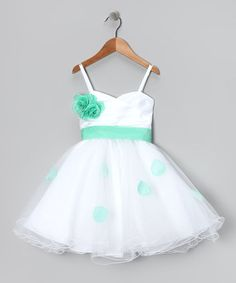 Take a look at this Green Petal Flower Dress - Toddler & Girls by Shanil on #zulily today!