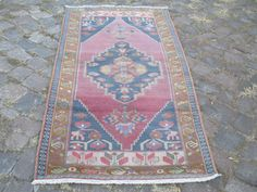 Vintage Turkish Oushak Rug  83 x 38 inches Excellent by OLDVINSHOP