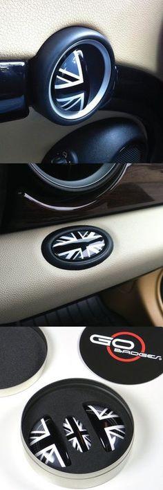 UK Red//Blue Interior Door Handle+Glove Box Covers for Mini Cooper R50 R52 R53