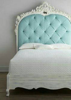 I love that color of headboard!