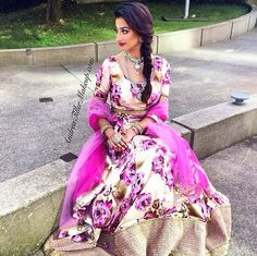 love the idea of going for a vivid print instead of traditional indian suit designs #engagement