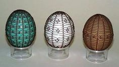 wire lace and eggs