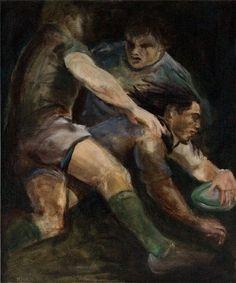#MoiraMcCaffery #Heroes #Rugby #art