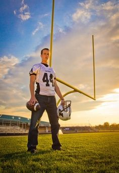 Senior football Picture Poses for Men | Senior Boy / Guy / Men / Headshots