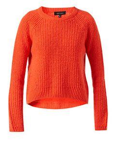 Orange Slouch Curve Hem Crop Jumper | New Look