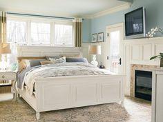Universal Furniture Summer Hill Bedroom Set in Cotton #Furnitureland South #White Finished #Furniture