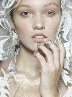 """Make-up at Julien Macdonald Spring 2015"""