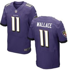 Men's Baltimore Ravens #11 Mike Wallace Purple Team Color NFL Nike Elite Jersey