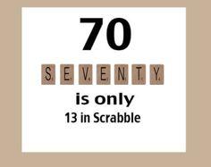 Funny 70th Birthday Card Age 70