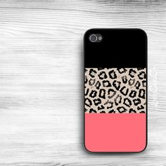 Colorblock Leopard iPhone 5s Case / iPhone 5 Case by LovelyCaseCo