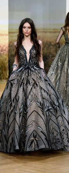 Ziad Nakad Spring-summer 2018 - Couture – 52 photos - the complete collection Evening Dresses, Prom Dresses, Formal Dresses, Beautiful Gowns, Beautiful Outfits, Style Haute Couture, Haute Couture Clothes, Gowns Couture, Vestidos Fashion