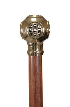 Awesome cane with an old fashion scuba helmet topper.  Beautiful! #steampunk
