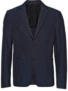 45ee310721f8 PRADA PRADA TECHNICAL POPLIN SINGLE-BREASTED JACKET - BLUE.  prada  cloth