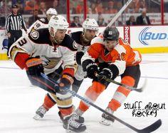 0831f89ec Anaheim Ducks Clayton Stoner & Andrew Cogliano with Philadelphia Flyers  Brayden Schenn   Original Photography Anaheim