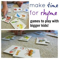 Make time to rhyme: rhyme games for bigger kids from Teach Mama