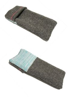 knitted pen case