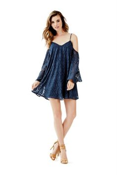 Andra Cold-Shoulder Dress | GUESS.com