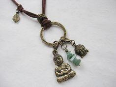 Buddha+Weisheit+*+Kette+mit+Wechselanhänger+bronze+von+Blue+Moon+++auf+DaWanda.com